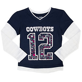 Dallas Cowboys Girls Pomeroy Layered Tee
