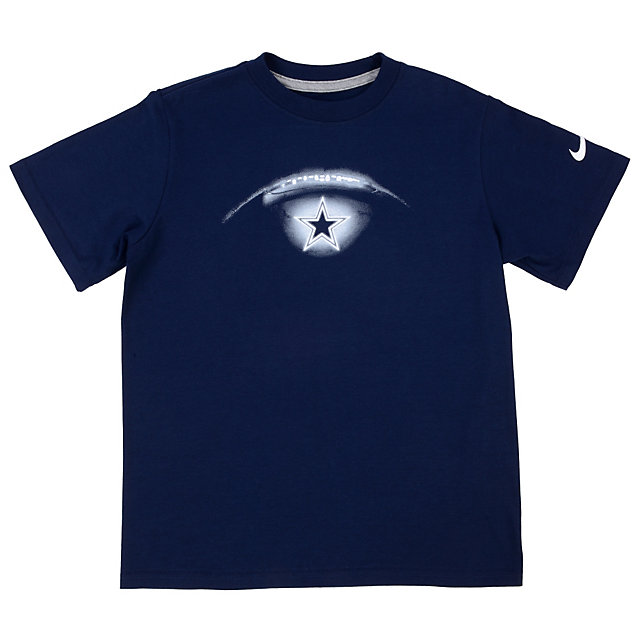 Dallas cowboys nike youth glow football tee boys t for Nike youth football t shirts