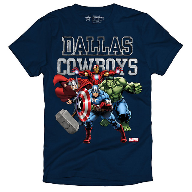 Dallas Cowboys Marvel Youth Tough Team Tee