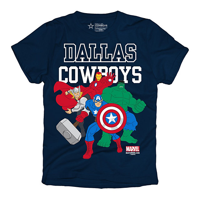 Dallas Cowboys Marvel Youth Powerful Bunch Tee