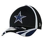 Dallas Cowboys New Era Training 39THIRTY Black Team Cap