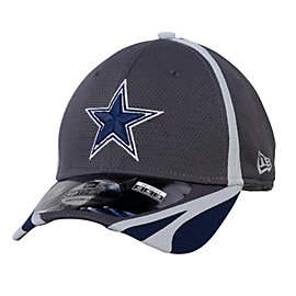Dallas Cowboys New Era Training 39THIRTY Grey Team Cap