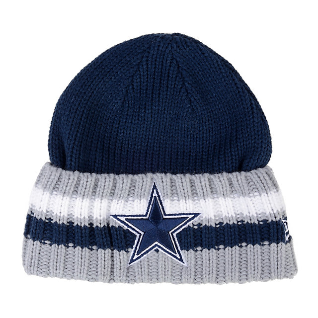 Dallas Cowboys New Era Cuff Striper Knit Cap