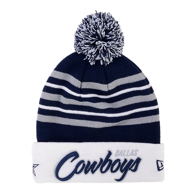 Dallas Cowboys New Era Snow Stripe Knit Cap