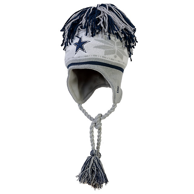 Dallas Cowboys New Era Striped Snowflake Redux Knit Cap