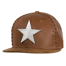 Dallas Cowboys New Era Faux Leather Football 9Fifty Cap