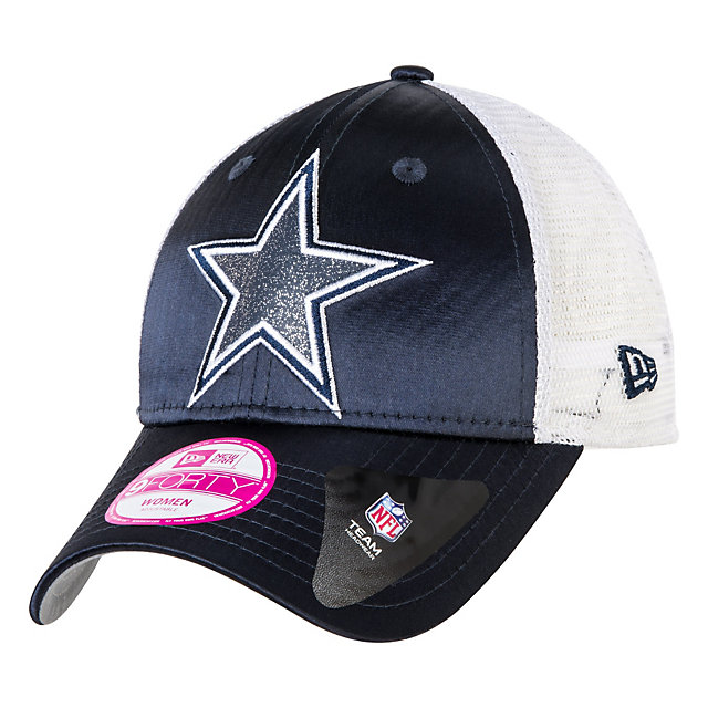 Dallas Cowboys New Era Women's Full Satin Chic 9Forty Cap