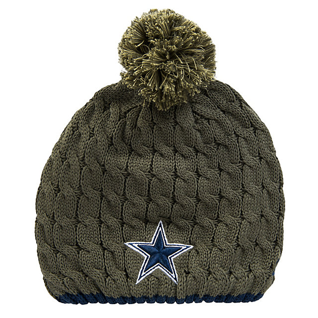 Dallas Cowboys New Era Womens Salute To Service Knit Cap
