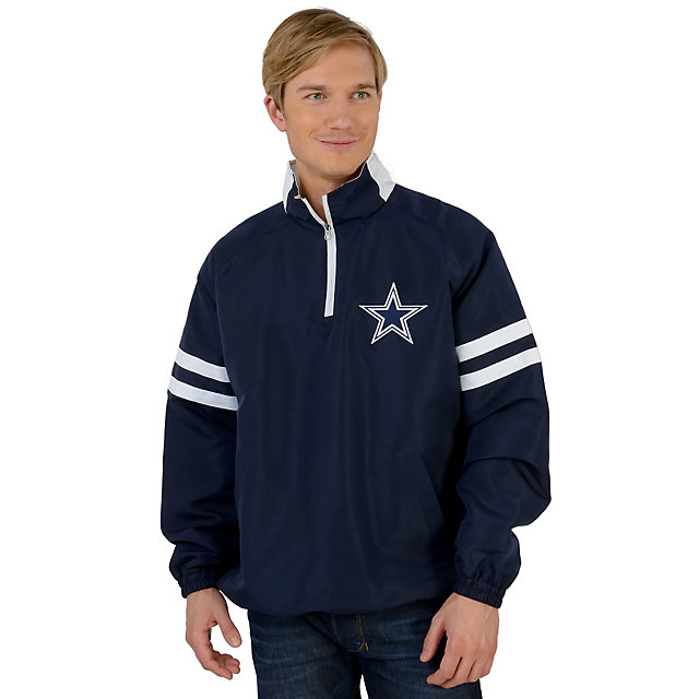 Dallas Cowboys Navy Half Zip Pullover Jacket