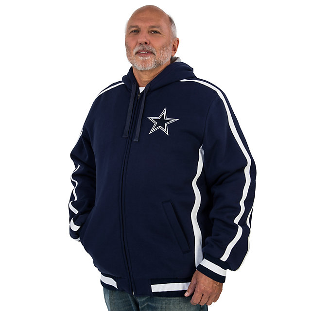 Dallas Cowboys Navy Cotton Poly Jacket