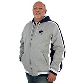 Dallas Cowboys Grey Cotton Poly Jacket