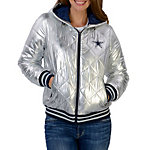 Dallas Cowboys Extra Point Silver Puffer Jacket