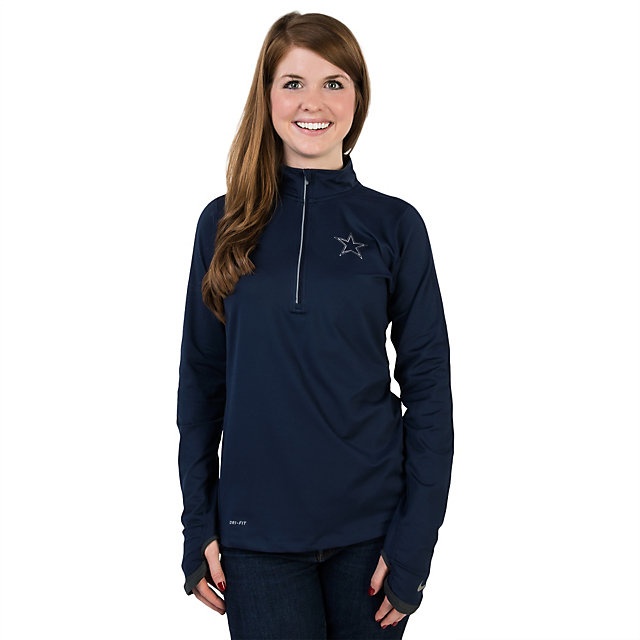 Dallas Cowboys Nike Womens Platinum Element Top