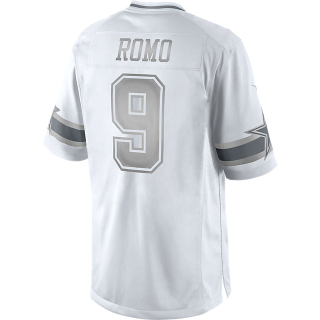 Dallas Cowboys Tony Romo #9 Nike Platinum Jersey