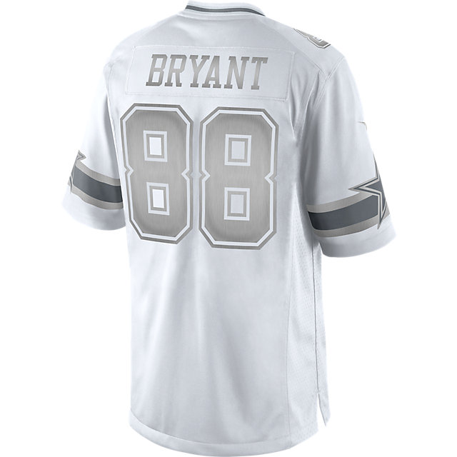 Dallas Cowboys Dez Bryant #88 Nike Platinum Jersey