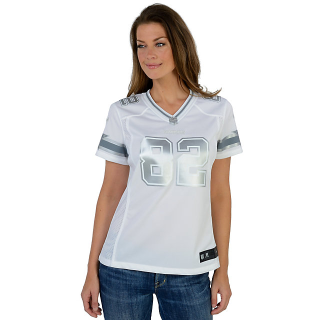 Dallas Cowboys Womens Jason Witten #82 Nike Platinum Jersey