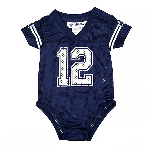 Dallas Cowboys Infant #12 Jersey Onesie