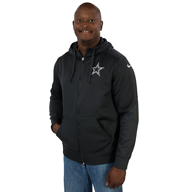 Dallas Cowboys Nike Platinum KO Chain Fleece Full Zip Hoody