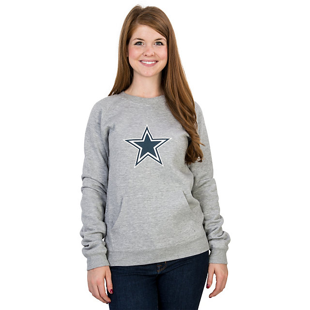 Dallas Cowboys Logo Premier Too Fleece Crew