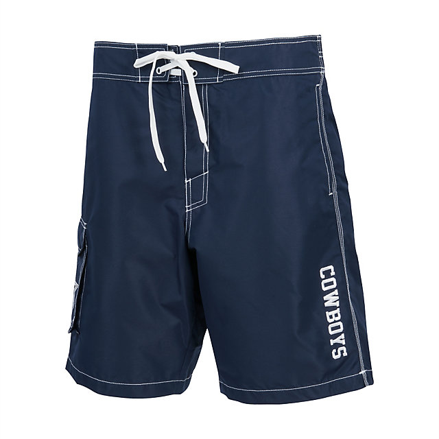Dallas Cowboys Poly Taslan Team Swim Trunks