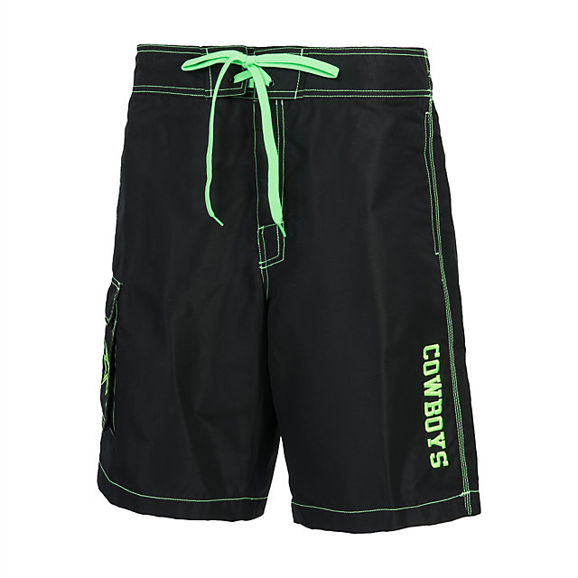 Dallas Cowboys Black Poly Taslan Swim Trunks