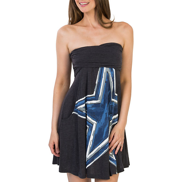 Dallas Cowboys Grey Painted Star Tube Dress