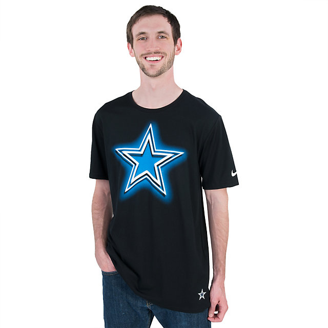 Mens Dallas Cowboys Black Jack Performance T Shirt