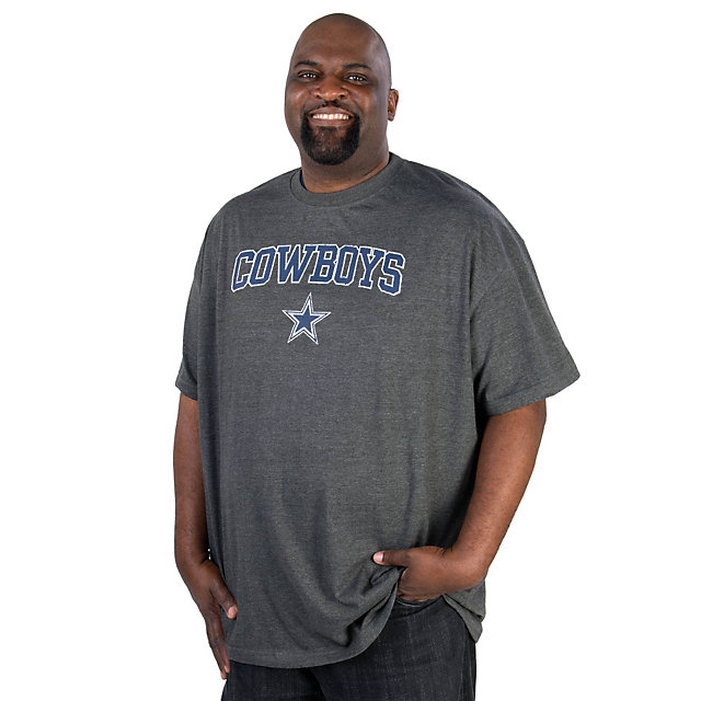 Dallas Cowboys Big and Tall Granite Heather Tee