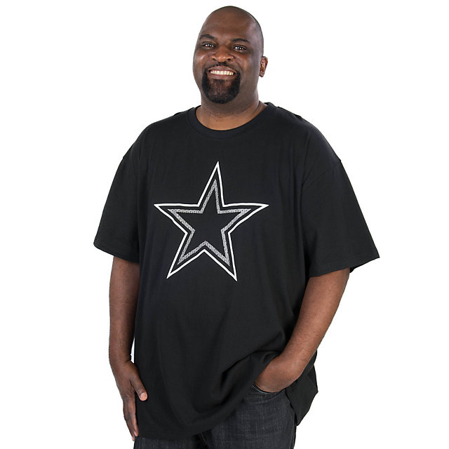 Dallas Cowboys Big and Tall Black Pop Tee