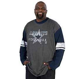 Dallas Cowboys Big and Tall Long Sleeve Tee