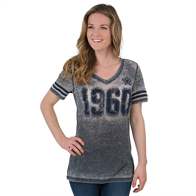 Dallas Cowboys Womens Sunray Burnout Tee