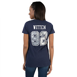 Dallas Cowboys Women's Jason Witten #82 Animal Name and Number Tee