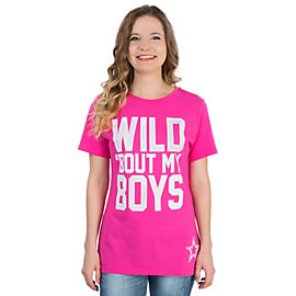 Dallas Cowboys Ladies Wild Crew Neck Tee