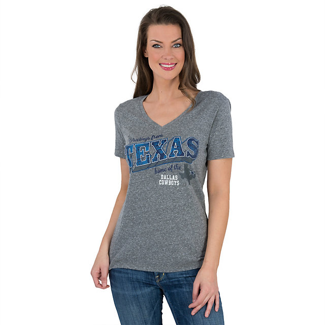 Dallas Cowboys Texas Greetings V-Neck Tee