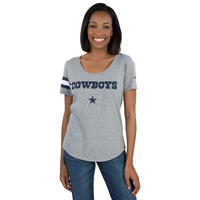 Dallas Cowboys Nike Scoop Stripe Tee