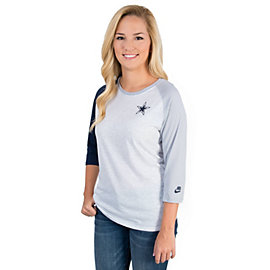 Dallas Cowboys Nike Strong Side Raglan Tee