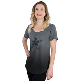 Dallas Cowboys Nike Womens Gridiron Grey Triblend Tee