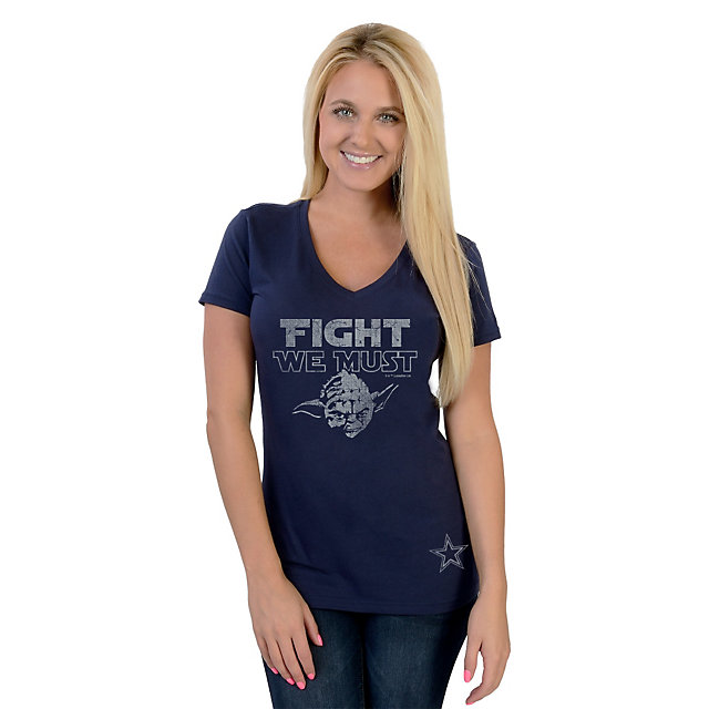 Dallas Cowboys Star Wars Womens Fight We Must Tee