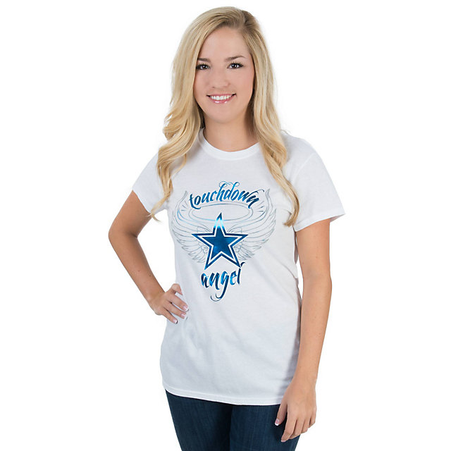 Dallas Cowboys Womens Touchdown Angel Tee