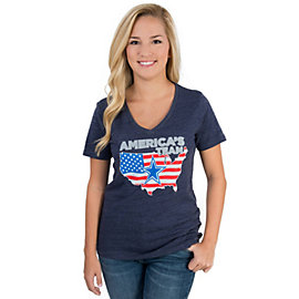 Dallas Cowboys Womens USA Patriotic Tee