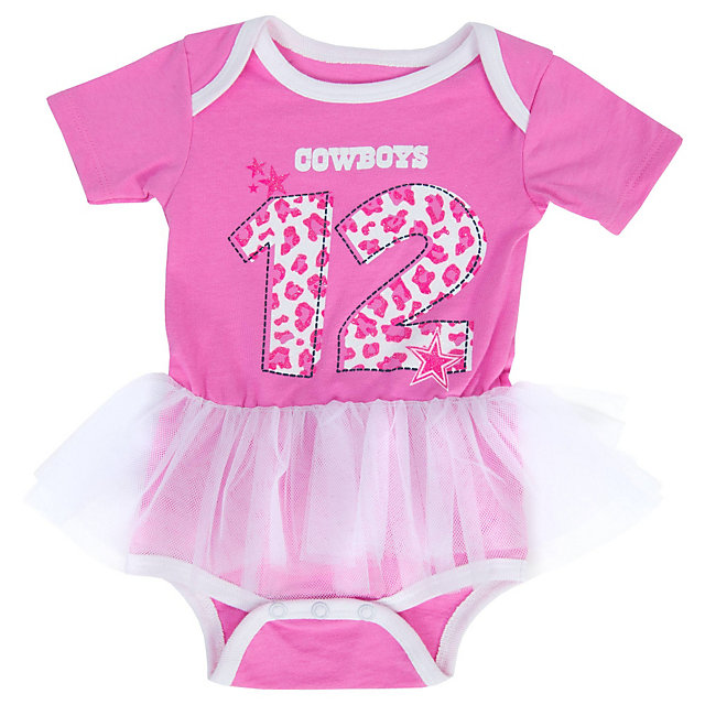 Dallas Cowboys Infant Pearl Tutu Bodysuit