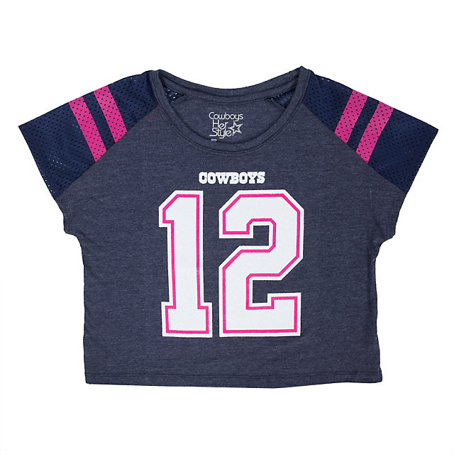 Dallas Cowboys Girls Maypearl Boxy Tee