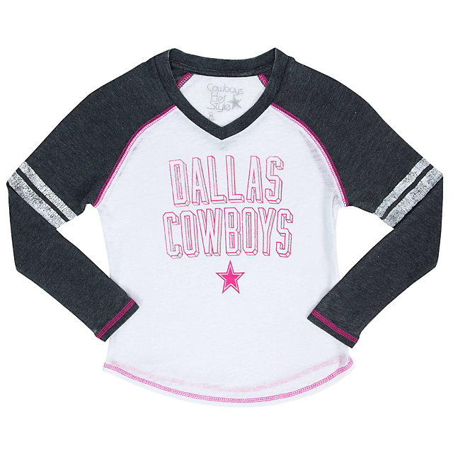 Dallas Cowboys Girls Kirbyville Burnout Tee