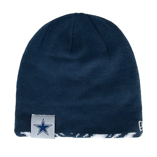 Dallas Cowboys New Era Zubaz Flip Knit Hat