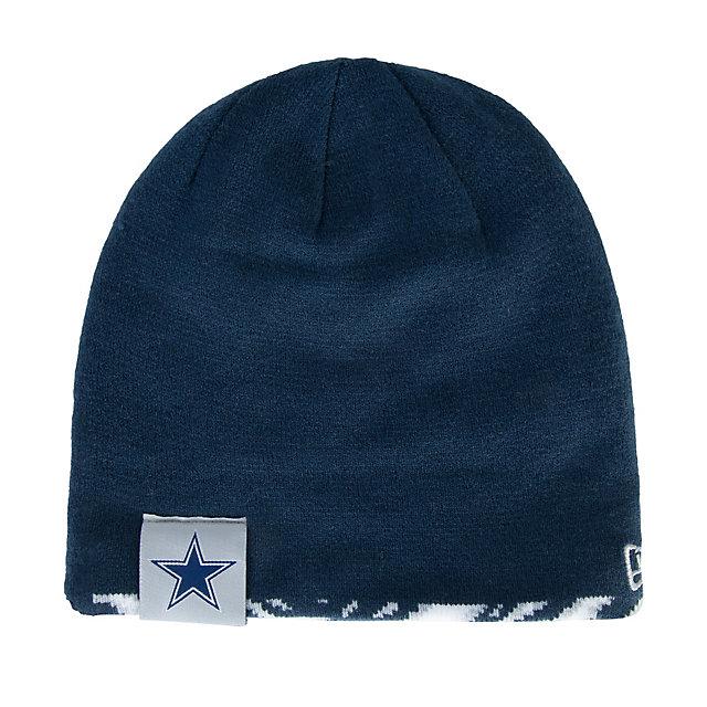 Dallas Cowboys New Era Zubaz Flip Knit Hat