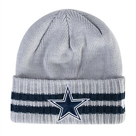 Dallas Cowboys New Era 2 Striped Cuff Knit Hat