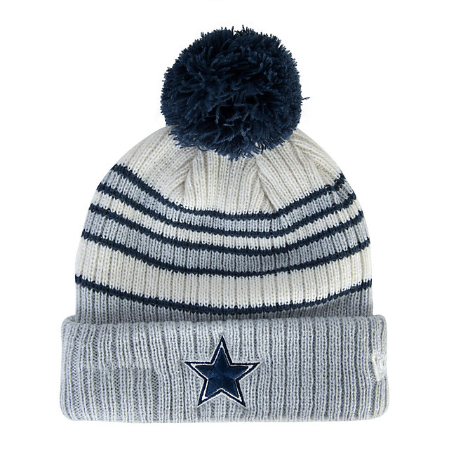 Dallas Cowboys New Era Traditional Stripe Knit Hat