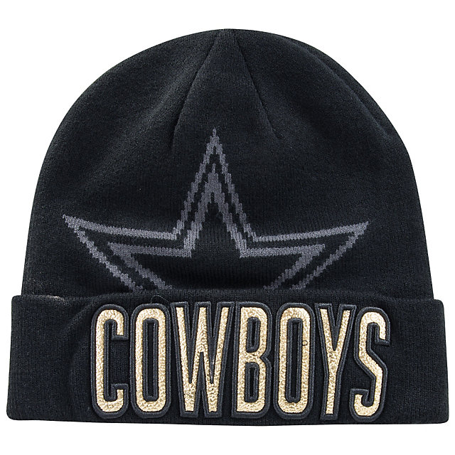 Dallas Cowboys New Era Metallic Fillz Knit Hat