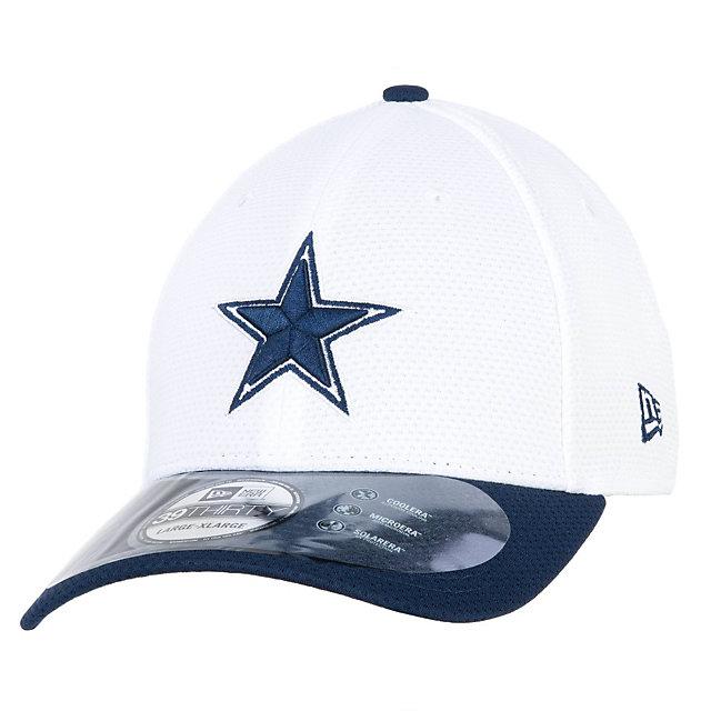 Dallas cowboys new era training camp white 39thirty cap for Dallas cowboys fishing hat