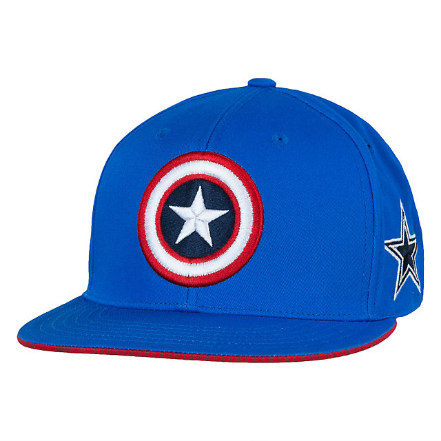 Dallas Cowboys MARVEL Captain Shield Flat Brim Cap
